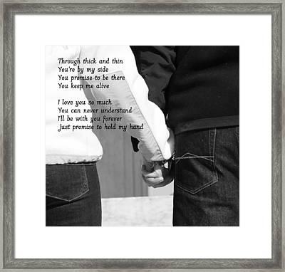 Never Let Go Framed Print by Lisa Jayne Konopka