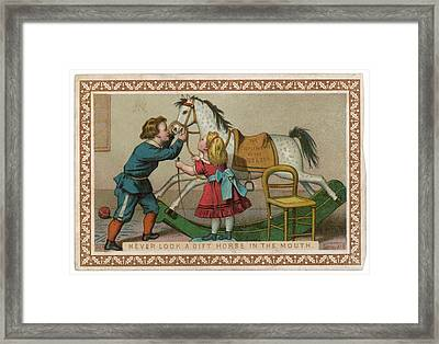 Never Look A Gift Horse In The  Mouth Framed Print by Mary Evans Picture Library