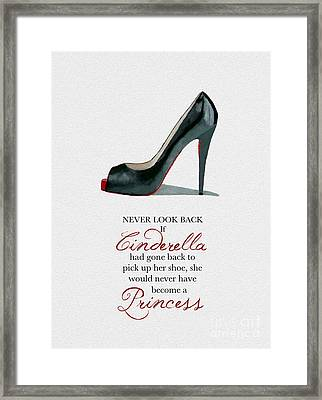 Never Look Back Framed Print