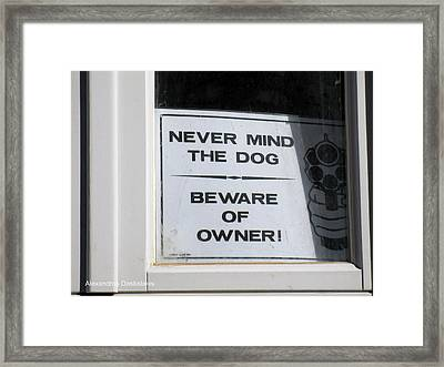 Never Mind The Dog Framed Print by Alexandros Daskalakis
