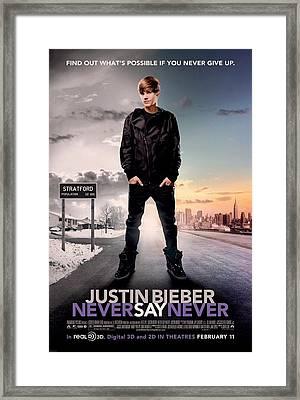 Never Say Never 1 Framed Print