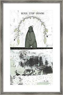 Never Stop Growing Framed Print by Sarah Ogren