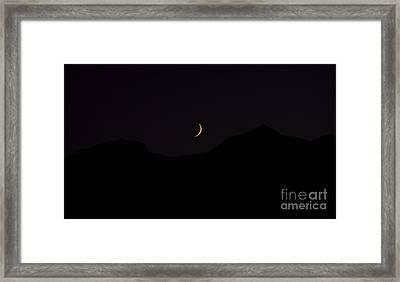 Never Summer Range Moonset Framed Print by Jon Burch Photography