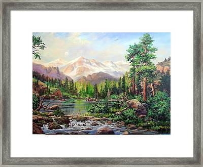 Never Summer Range Framed Print by W  Scott Fenton