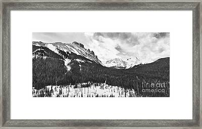 Never Summer Wilderness Area Panorama Bw Framed Print by James BO  Insogna