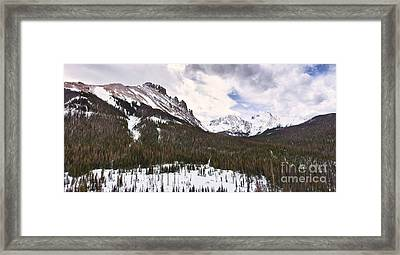 Never Summer Wilderness Area Panorama Framed Print