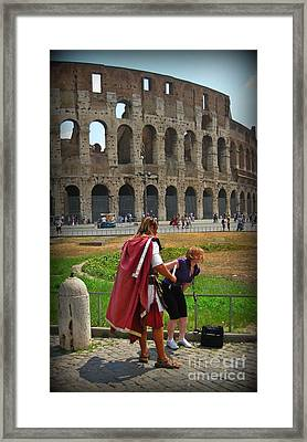 Never Trust A Gladiator Framed Print by John Malone