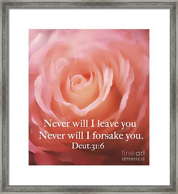 Never Will I Leave You Framed Print by Maggie Vlazny