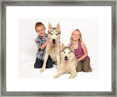 Never Work With Children Or Animals Framed Print by Andrew James