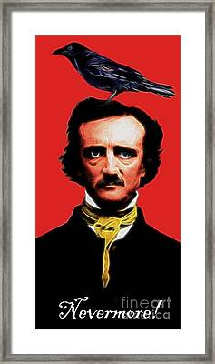 Nevermore - Edgar Allan Poe - Electric Framed Print by Wingsdomain Art and Photography