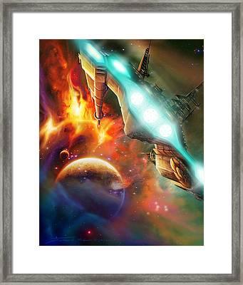 Nevtar Stardrive Framed Print by James Christopher Hill