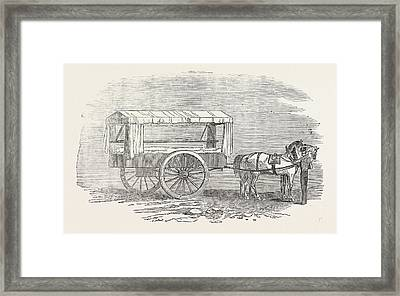 New Ambulance With The Army In The East 1854 The Hospital Framed Print by Turkish School