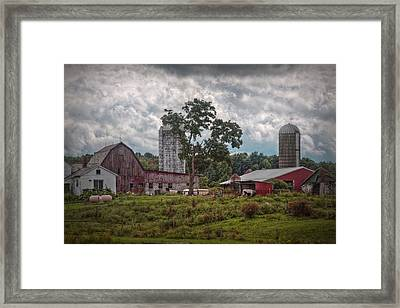 New And Old Barn Framed Print