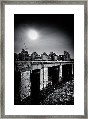 New Apartments Near Battersea Framed Print by Lenny Carter