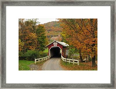 New Baltimore Covered Bridge Framed Print