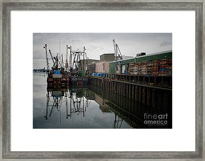 New Bedford Waterfront No. 4 Framed Print by David Gordon