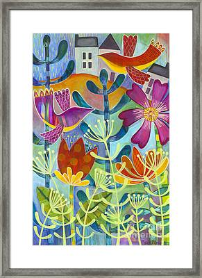 Framed Print featuring the painting New Beginning by Carla Bank