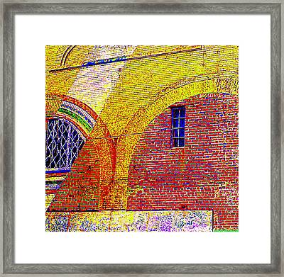 New Bern Mural Framed Print by Randall Weidner