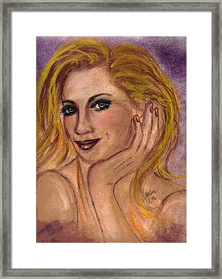 Framed Print featuring the mixed media New Blond by Desline Vitto