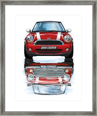 New Bmw Mini Cooper Red Framed Print