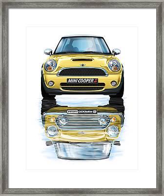 New Bmw Mini Cooper S Yellow Framed Print