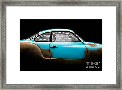 New Brake Lines New Calipers On Front New Rotors New Front Axle Beam Etc... Framed Print by Steven Digman