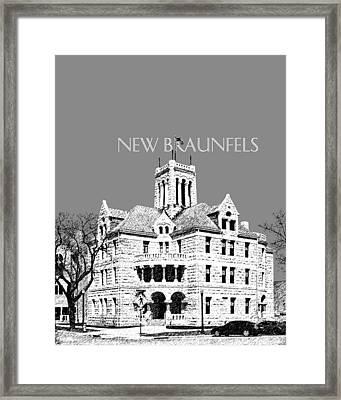 New Braunfels Skyline - Pewter Framed Print by DB Artist