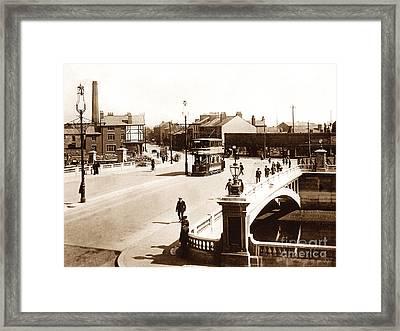 New Bridge Warrington England Framed Print by The Keasbury-Gordon Photograph Archive