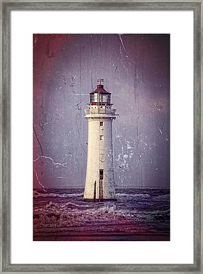 New Brighton Lighthouse Framed Print by Spikey Mouse Photography