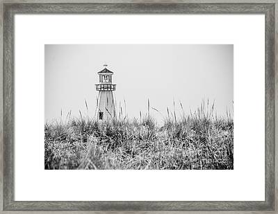 New Buffalo Lighthouse In Southwestern Michigan Framed Print by Paul Velgos