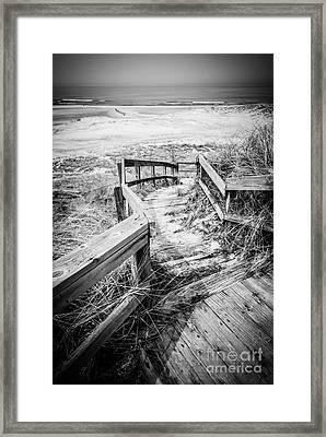 New Buffalo Michigan Boardwalk And Beach Framed Print