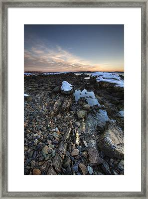 New Castle Dawn Framed Print by Eric Gendron