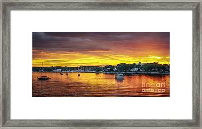 New Castle Sunset Framed Print