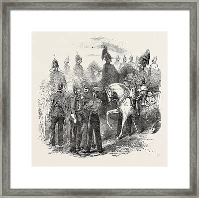 New Cavalry Corps The Mounted Staff 1854 Framed Print by English School