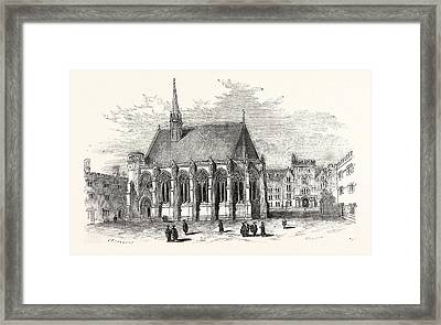 New Chapel, Exeter College, Oxford, Oxford University, Uk Framed Print
