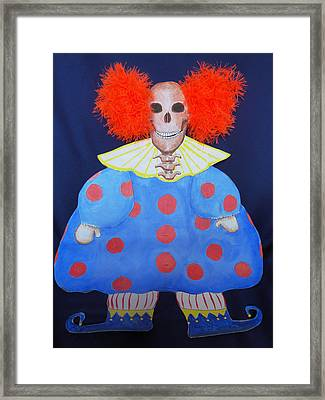 New Clown On The Block Framed Print by Sandra Lewis