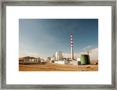 New Coal Fired Power Plant Framed Print by Ashley Cooper