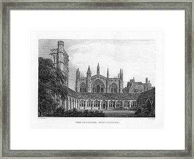 New College Cloisters Framed Print by Oxfordshire History Centre/oxford University Images