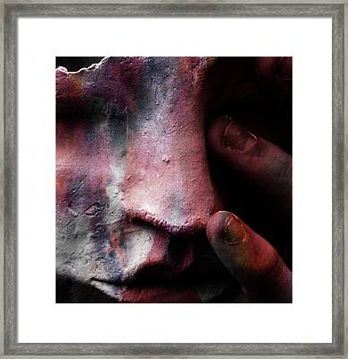 New Colours In Tears  Framed Print