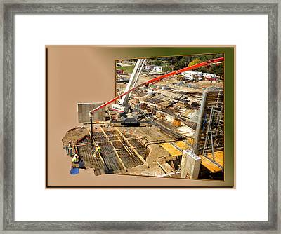 New Commercial Construction Site 02 Framed Print by Thomas Woolworth