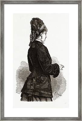 New Confection, 19th Century Fashion, Dress Framed Print