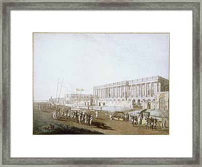 New Court House And Chandpal Ghaut Framed Print