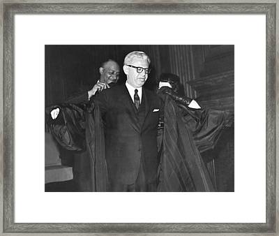 New Court Justice Goldberg Framed Print by Underwood Archives