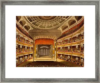 New Covent Garden Theatre Framed Print by T. & Pugin, A.C. Rowlandson