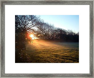 New Dawn Fades Framed Print by Richard Brookes