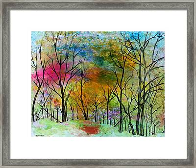 New Dawn New Day New Life Framed Print by Janet Immordino