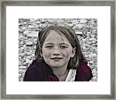 New Day Framed Print by Kathy Peltomaa Lewis