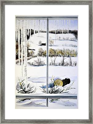 New Day New Snow Framed Print