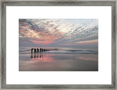 New Day Sunrise Sunset Image Art Framed Print