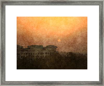 New Delhi Sunset Framed Print